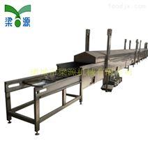 肉丸全自动连续不锈钢板带蒸汽隧道蒸线