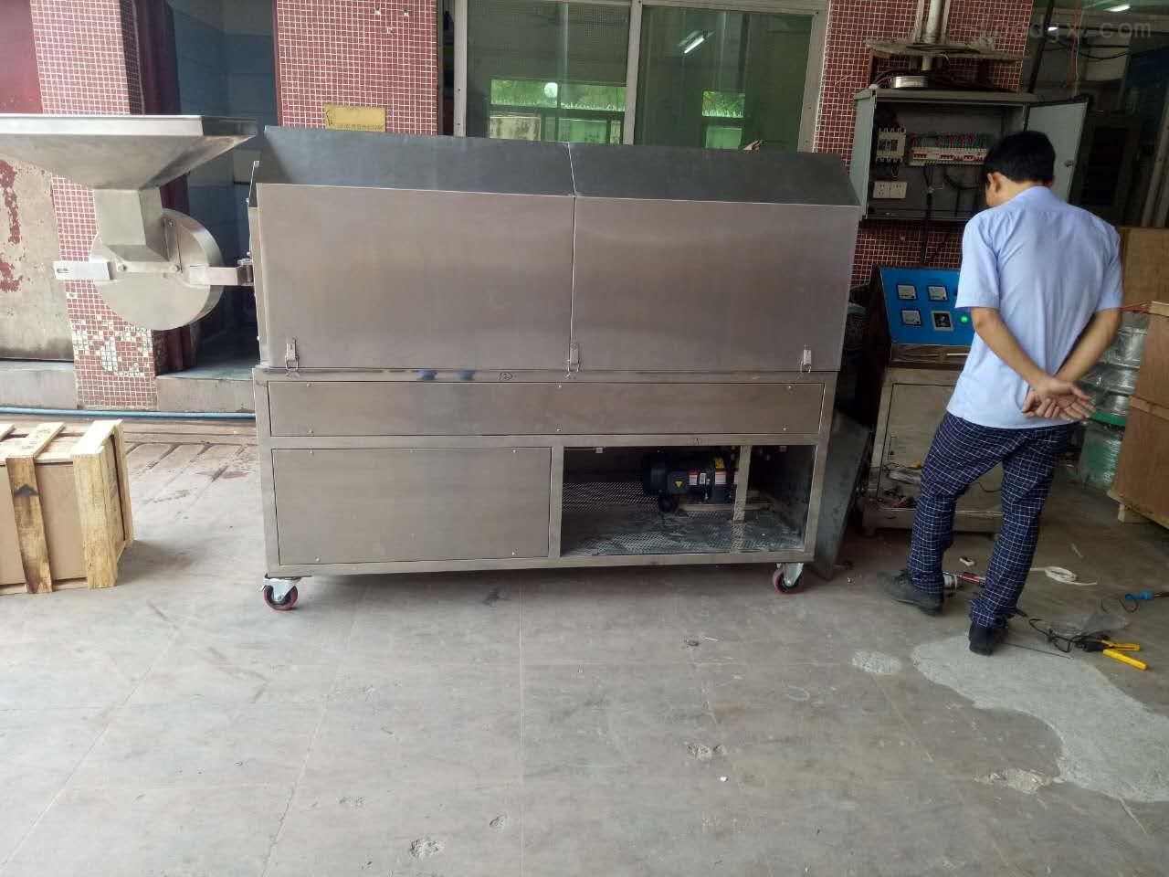 电加热不锈钢炒货机,豪华坚果花生炒货设备