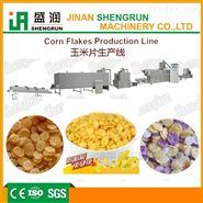 早餐谷物加工设备、膨化玉米片食品生产线
