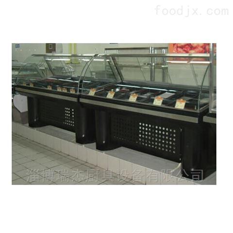 青州超市不锈钢面shi柜
