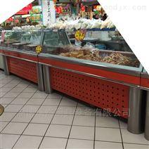 带制冷保鲜的白钢熟食柜