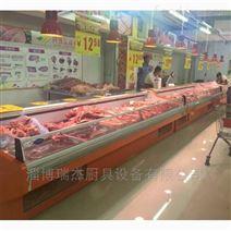 瑞杰厨具生产生鲜展示柜,风冷式鲜肉柜