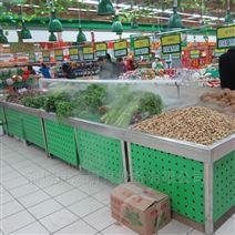 超市使用的不銹鋼噴霧加濕蔬菜架?