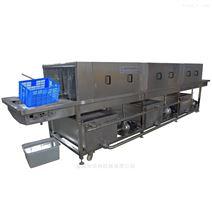 塑料筐清洗机厂家 全自动四面喷淋洗筐机