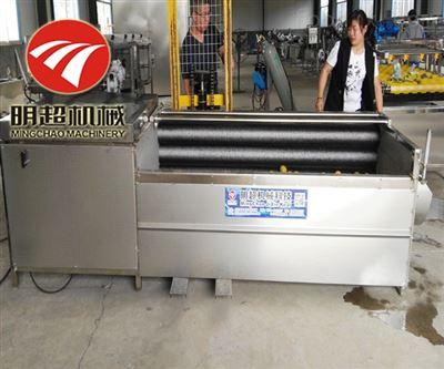 MC-4000气泡式莲藕清洗机一个小时1吨产能