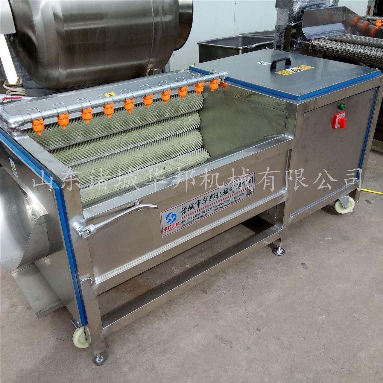 HB华邦牌蔬菜毛辊清洗机 流水线设备