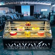广东柏川弧边欧式蛋糕柜三层商用面包展示柜