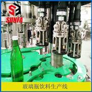 玻璃瓶铝制盖灌装封口机   饮料生产线设备