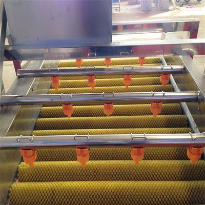 橘子毛刷清洗机 红枣气泡毛辊清洗机