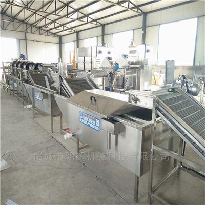 连续式毛豆清洗速冻生产线 扁豆漂烫深加工处理设备