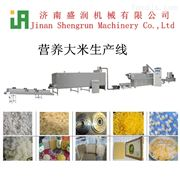 TSE70-E双螺杆生产线时产100公斤营养米黄金米膨化设备生产线
